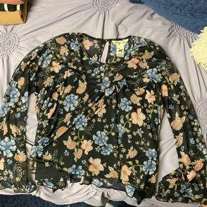 Indigo rain blouse